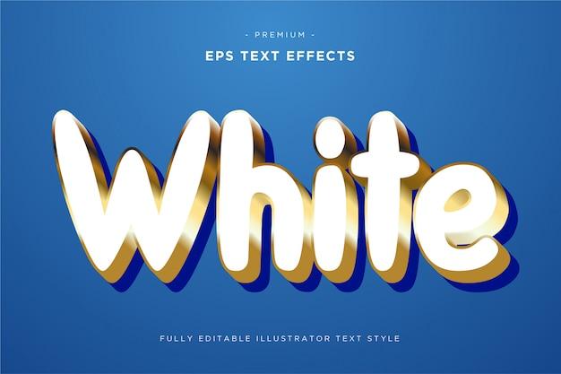 Wit 3d teksteffect - 3d tekststijl