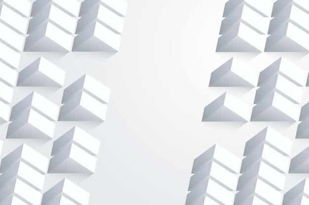 Wit abstract behang in 3d papierstijl