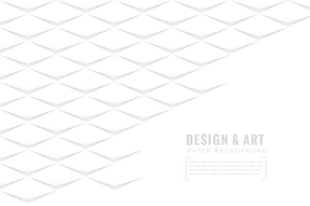 Wit abstract behang in papierstijl