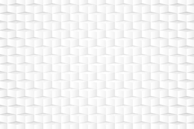 Wit behang in 3d-papierstijl