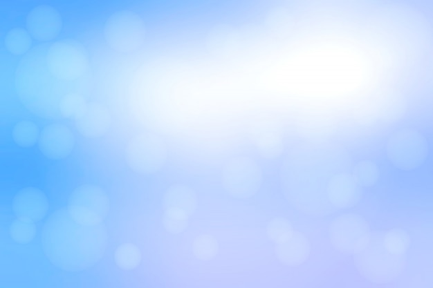 Wit blauwe tinten abstract met bokeh lichten wazig achtergrond