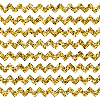 Wit chevronpatroon met sparkly gold effect