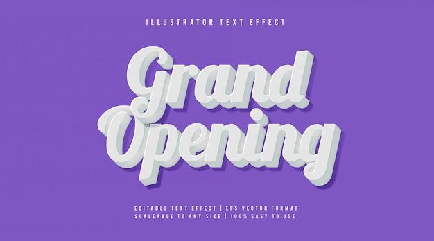 Wit elegant handgeschreven tekststijl lettertype-effect