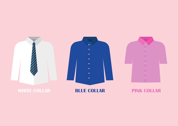 Wit en blauw shirt vector illustraton