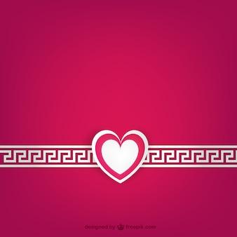 Wit en fuchsia valentijnsdag kaart