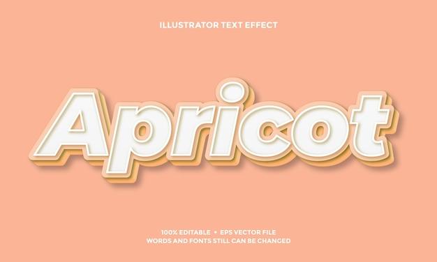 Wit en tosca kleurtext effect stijl ontwerp