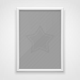 Wit frame met schaduw