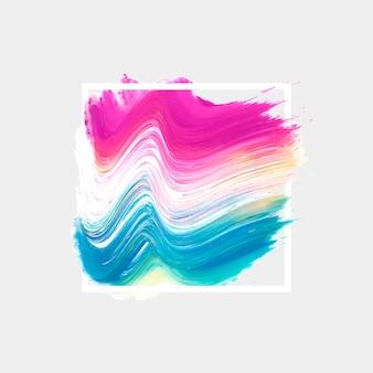Wit geometrisch kader met waterverfvlek