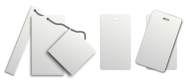 Wit geschenketiket. prijskaartje ingesteld op hang string