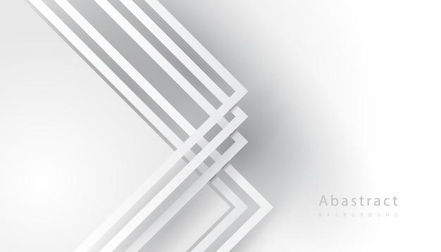 Wit gevouwen gestreepte lijn