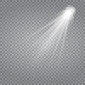 Wit gloeiend licht burst explosie met transparant.