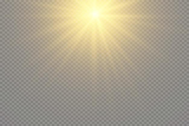 Wit gloeiend licht explodeert op een transparante achtergrond sprankelende magische stofdeeltjes heldere sta...