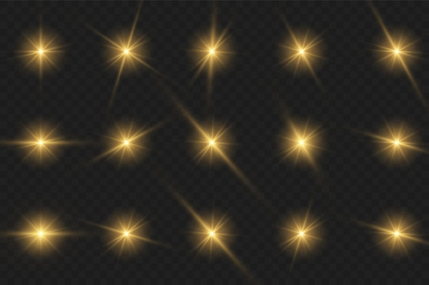Wit gloeiend licht explodeert op een transparante achtergrond. sprankelende magische stofdeeltjes. heldere ster. transparante stralende zon, felle flits. vector schittert.