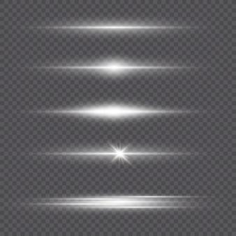 Wit gloeiend licht explodeert op een transparante achtergrond