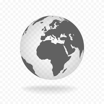 Wit grijs globe glas transparante vectorillustratie