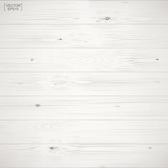 Wit houtpatroon en textuur voor achtergrond. vector illustratie.