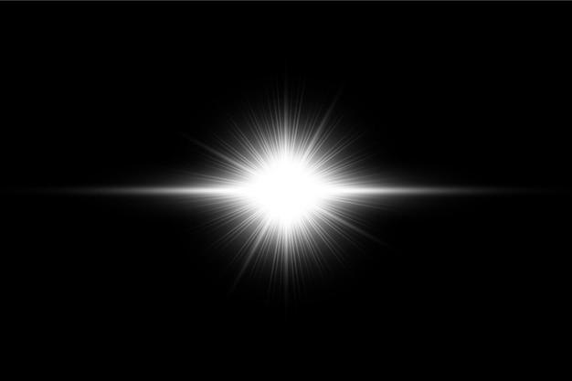 Wit lens flares-pakket