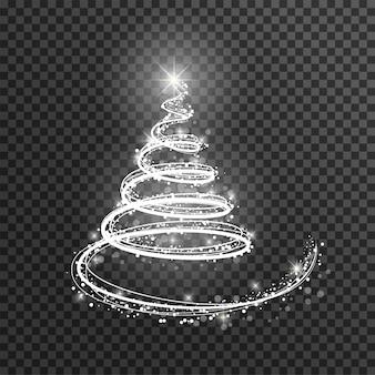 Wit licht kerstboom voor nieuwjaar