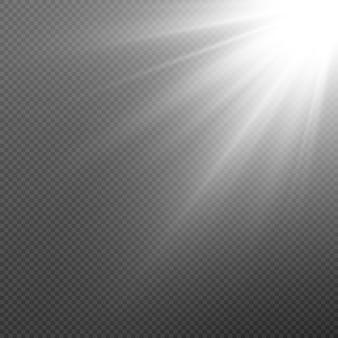 Wit licht. zon, zonnestralen, gloed, dageraad png. explosie van wit licht. witte ster