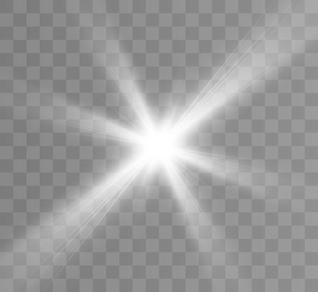 Wit lichteffect met hoogtepunten vector