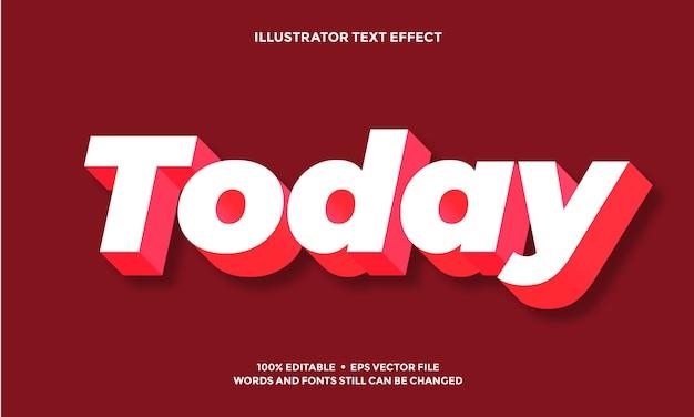 Wit met rode schaduw teksteffect lettertype alfabet sjabloon