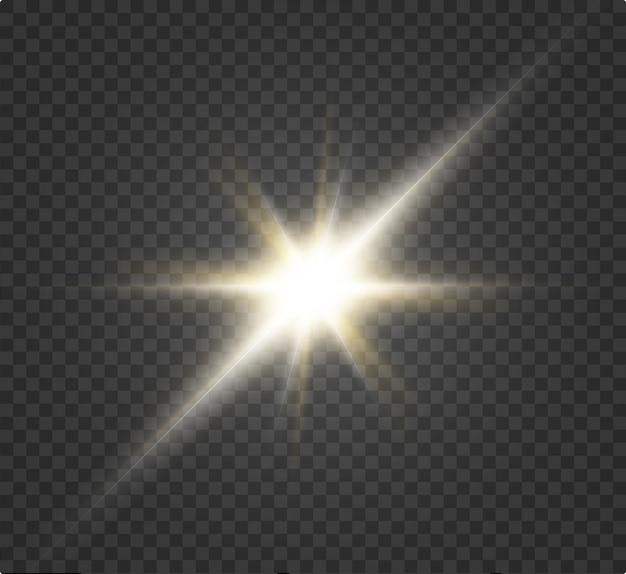 Wit mooi licht explodeert in een transparante explosie. , heldere illustratie voor een perfect effect met glitters. heldere ster. transparante glansverloopglans, heldere flits.