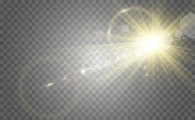 Wit mooi licht explodeert met een transparante explosie heldere vectorillustratie voor perfect