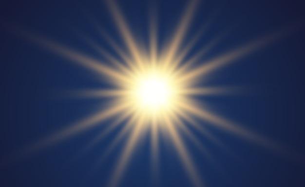 Wit mooi licht explodeert met een transparante explosie. vector, heldere illustratie voor een perfect effect met glitters. heldere ster. transparante glans van het glansverloop, heldere flits