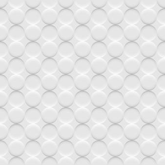 Wit naadloos patroon als achtergrond met cirkels