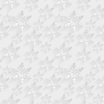 Wit naadloos patroon met vlakke sneeuwvlokken. achtergrond.