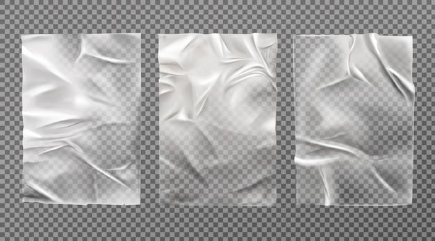 Wit nat papier, slecht gelijmde tarwepasta set geïsoleerd