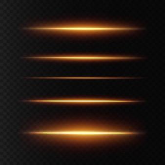 Wit pakket met horizontale lensfakkels
