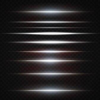 Wit pakket met horizontale lensflares