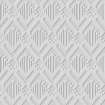 Wit papier art arrow triangle check cross geometry line, stijlvolle decoratie patroon achtergrond voor webbanner wenskaart