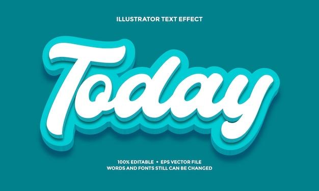 Wit penseel teksteffect of lettertype alfabet stijlsjabloon