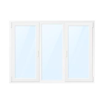 Wit plastic venster