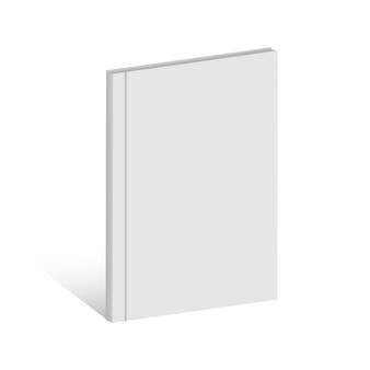 Wit realistisch leeg boek, tijdschrift, brochure.