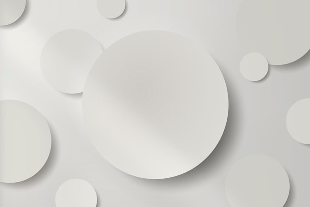 Wit rond papier gesneden met slagschaduw achtergrond Gratis Vector