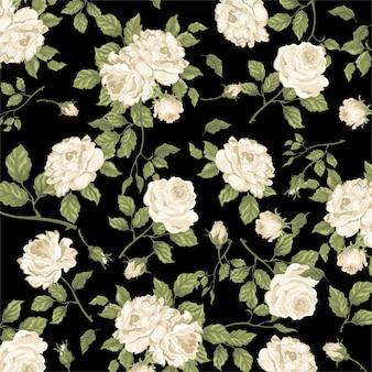 Wit rozenpatroon