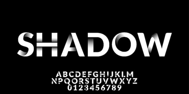 Wit schaduweffect lettertype