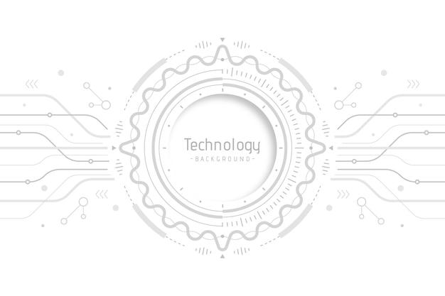 Wit technologieconcept voor behang