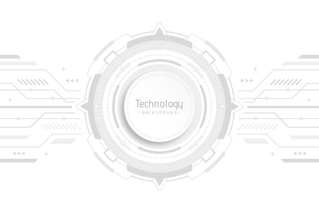 Wit technologieontwerp voor behang