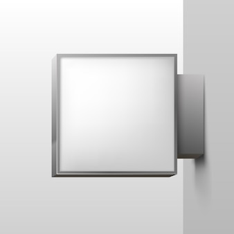 Wit vierkant bord op witte achtergrond. vector illustratie