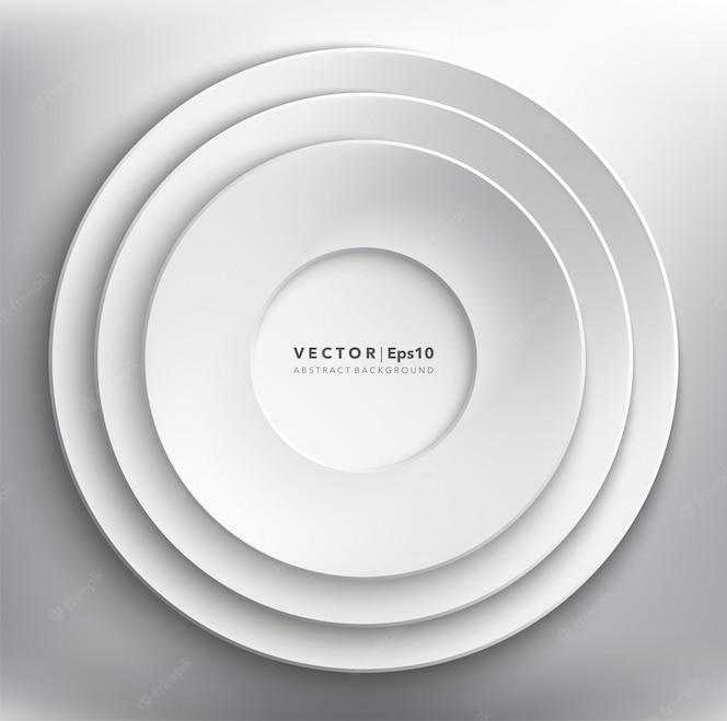 Witboek cirkels achtergrond. rond papieren frame.