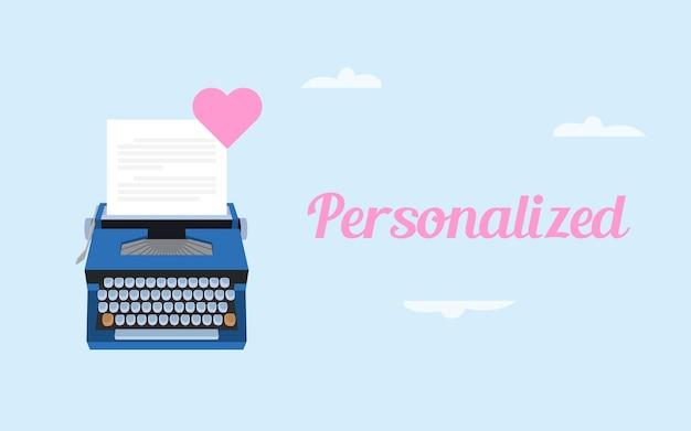 Witboek en typmachine
