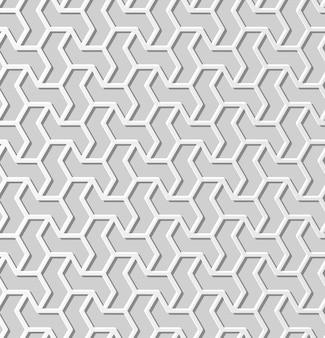 Witboek kunst geometrie kruis patroon naadloze achtergrond, stijlvolle decoratie patroon achtergrond voor webbanner wenskaart