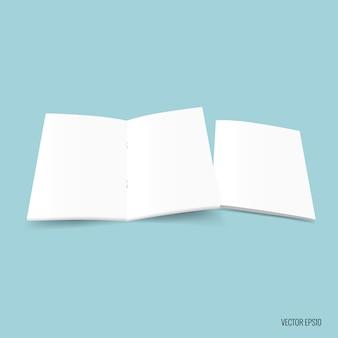 Witboek op blauwe achtergrond