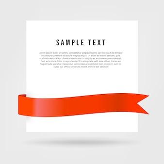 Witboekkaart met rood lint.