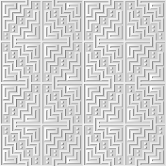 Witboekkunst mozaïek pixel vierkante geometrie cross frame, stijlvolle decoratie patroon achtergrond voor webbanner wenskaart