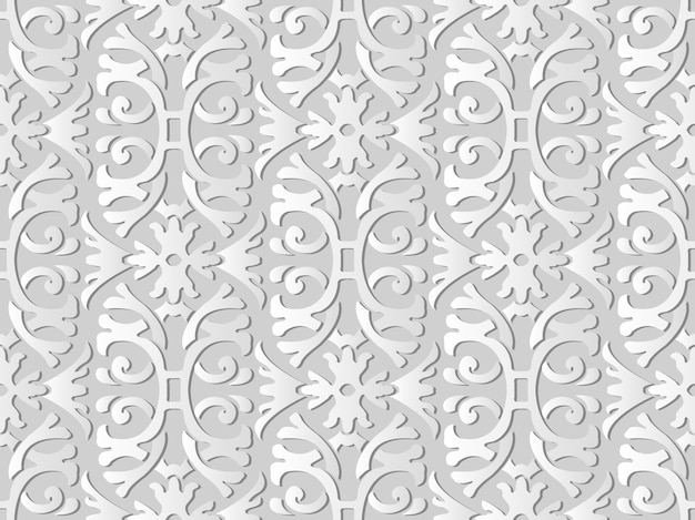 Witboekkunst spiral curve cross garden frame flower, stijlvolle decoratie patroon achtergrond voor webbanner wenskaart